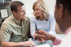 a couple with a fertility consultant