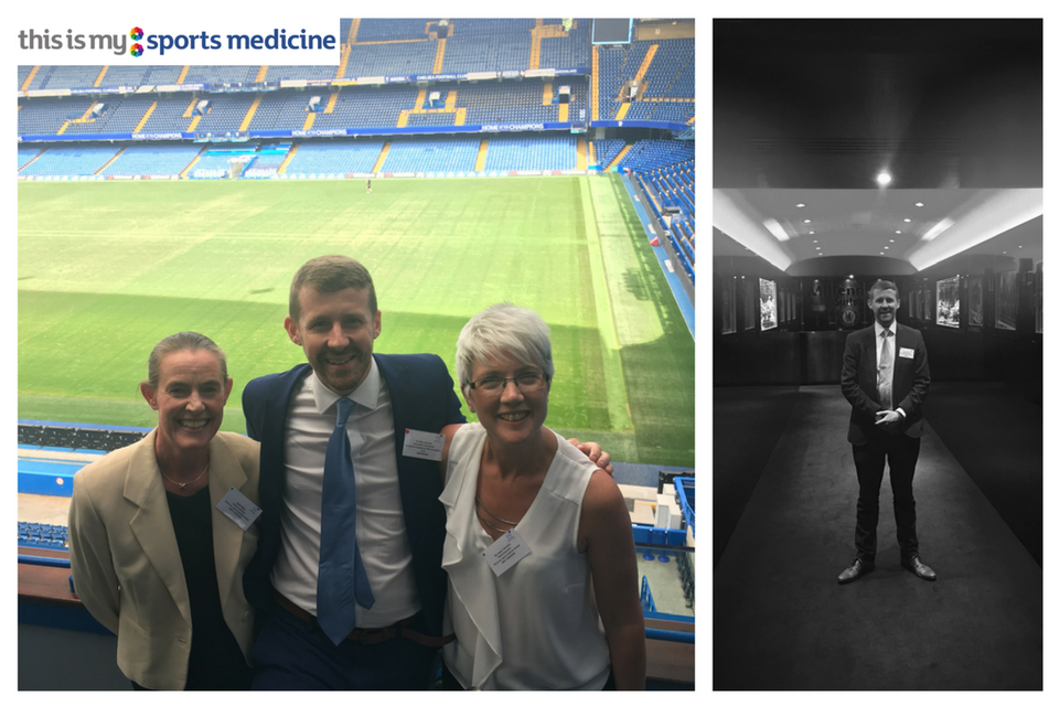 Sports Medicine team including Dr Allan Johnston at Chelsea FC